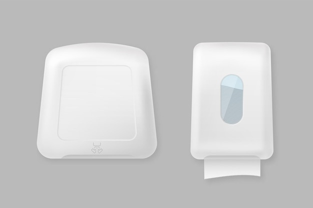 Hand dryer and dispenser mockup template