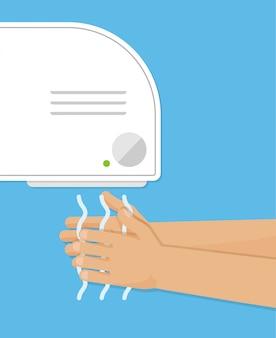 Hand dryer icon.   illustration