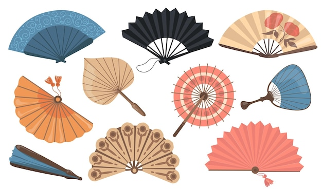 Hand fans set