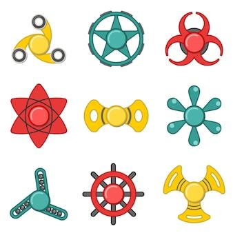 Hand fidget spinner set