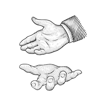 Hand or finger drawing
