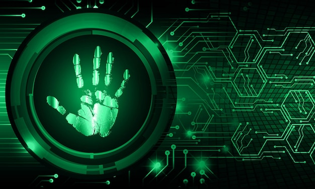 手 指紋 ネットワーク サイバー セキュリティ 背景