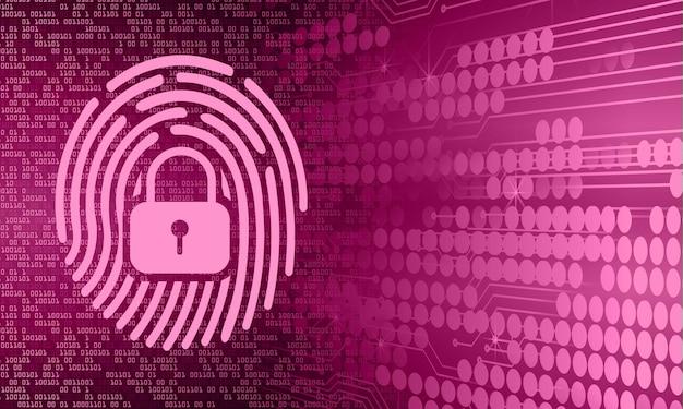 손 지문 네트워크 사이버 보안 배경