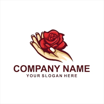 Hand flower logo