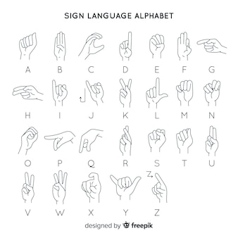 Hand gesture language alphabet