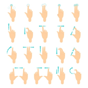 Hand gesture for the screen of mobile phone.