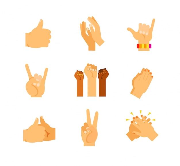 Collezione gesti delle mani