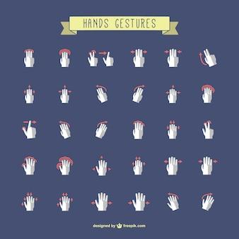 Collezione di gesti delle mani