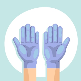 보호 설계를위한 손 장갑