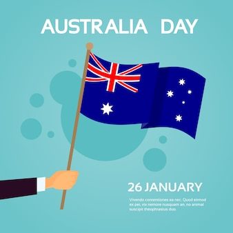 ハンドホールドオーストラリア旗国民の休日