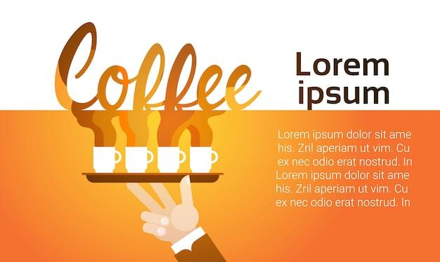 Hand hold coffee cup break breakfast drink beverage