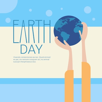 Hand hold globe earth day global ecological world protection holiday concept
