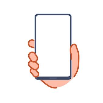 Рука смартфон. векторная иллюстрация, которую легко редактировать.