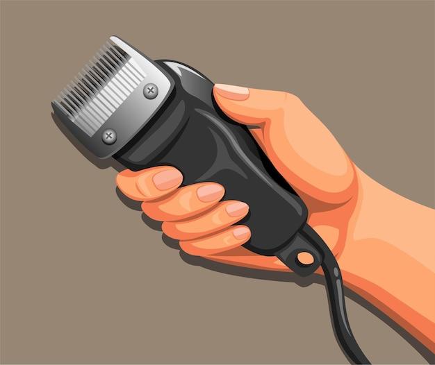 Рука электрическая машинка для стрижки бритвы, бритье.