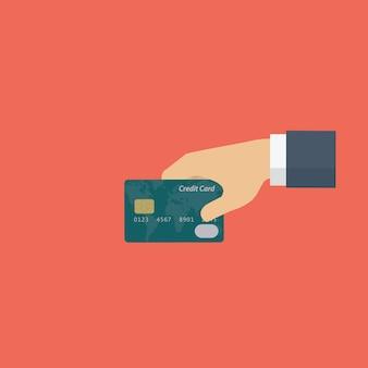支払いのための手持ちのクレジットカード