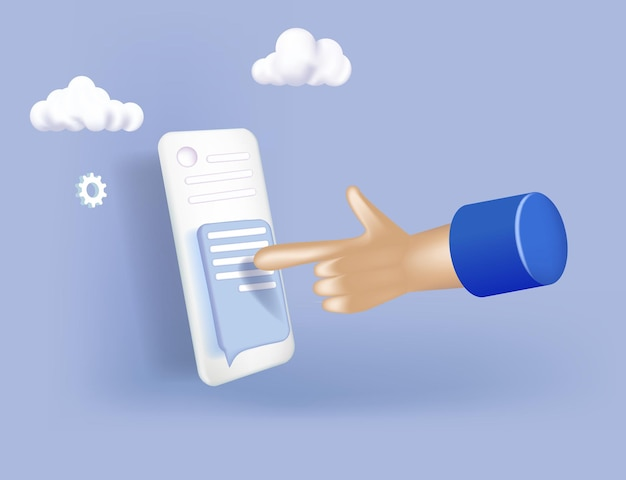 Hand holding mobile smart phone with mail app