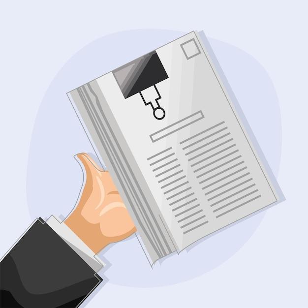 Рука, держащая документы в зажиме