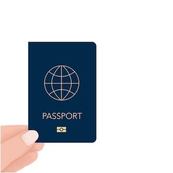Рука паспорт вектор