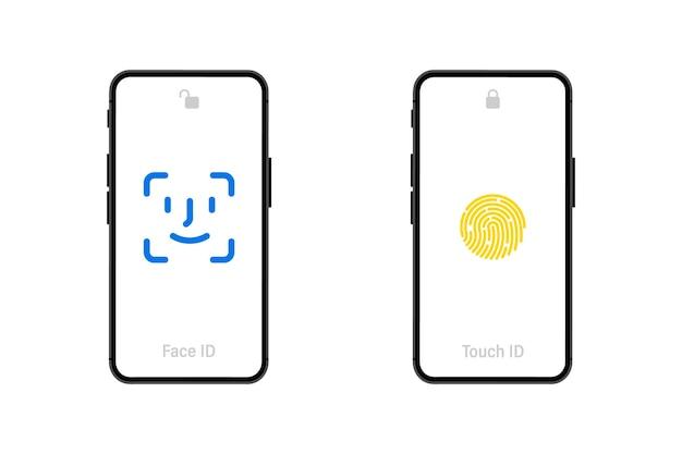 白い背景の上の空白の画面でスマートフォンを持っている手。携帯電話。画面が空白の黒いスマートフォン。フラットスタイル。白い画面でスマートフォンのアプリケーションテンプレートイラストを設定します。