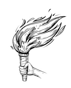 Рука факел.