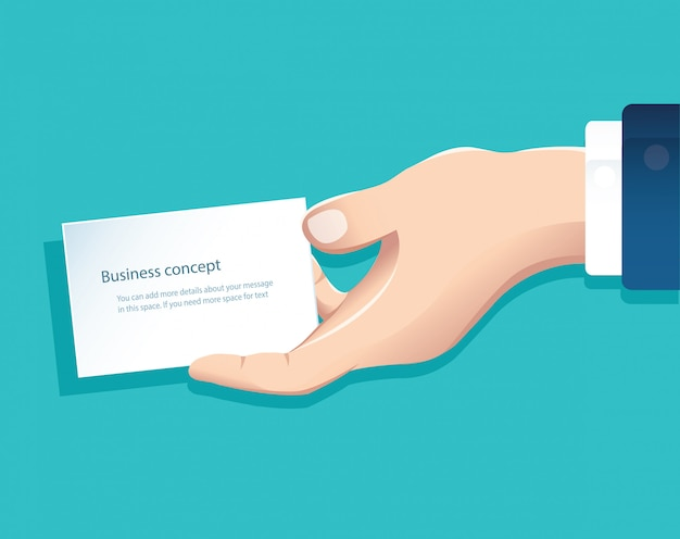 Hand holding white paper isolate vector