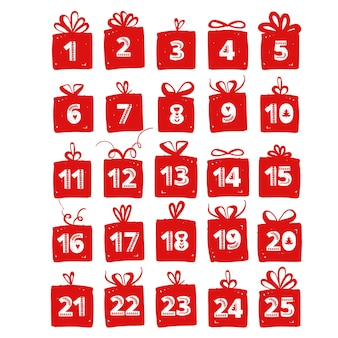 Рука держит рождественскую подарочную коробку праздничные поздравления дарит подарки