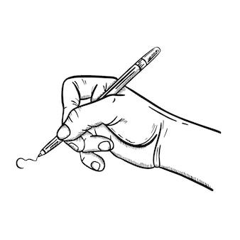 Рука держит ручку