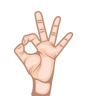Hand human symbol isolated icon