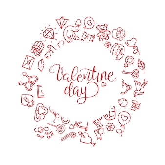Hand-lettered vintage st. valentines card - with handmade calligraphy