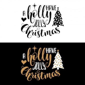 Hand lettering christmas quote