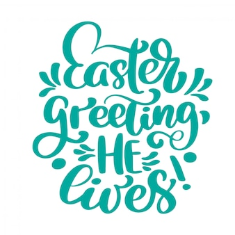 Hand lettering easter greeting card