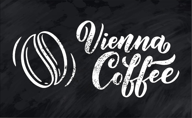 Hand lettering ellement in sketch style for coffee shop or cafe