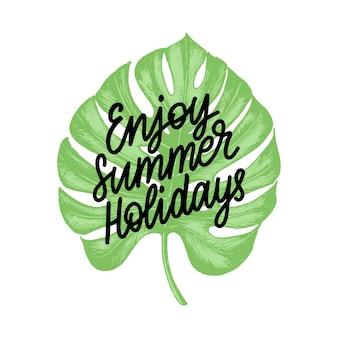 Hand lettering enjoy summer holidays