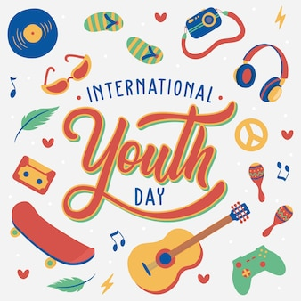 Hand lettering international youth day