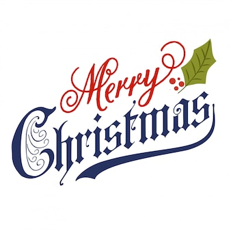 Hand lettering Merry Christmas message