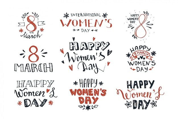 Hand lettering for women's day