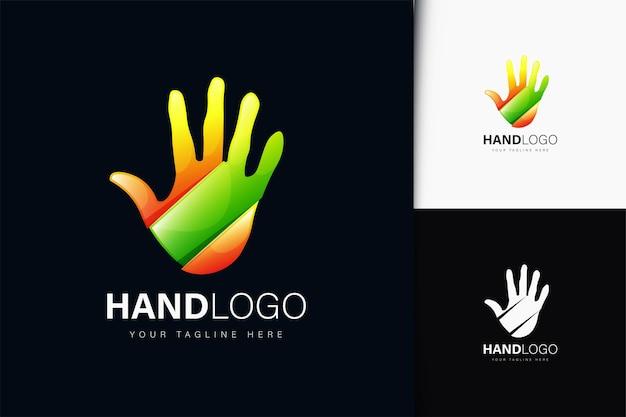 그라데이션이 있는 손 로고 디자인