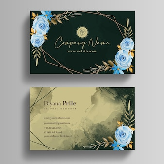Hand made business watercolor template