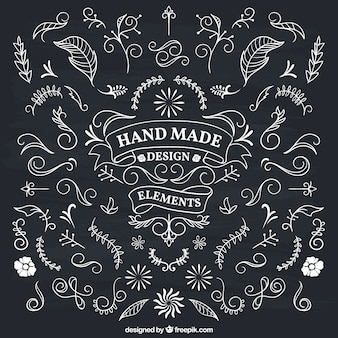 Hand made floral decoration Premium Vector