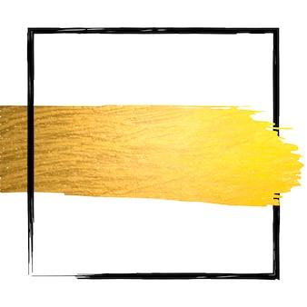 Hand made golden glitter stroke