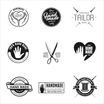 Hand made labels, badges and elements in vintage style.