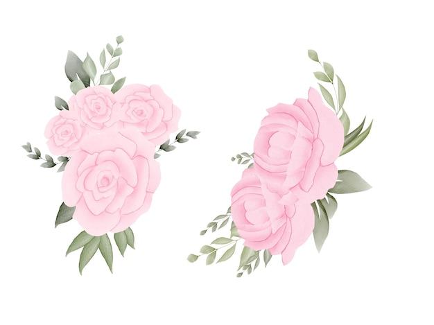 Ручная акварель цветочная рамка