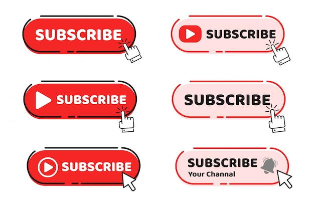 A hand mouse cursor is clicking on the subscribe button to track the content on your video.