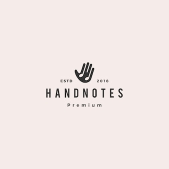 Hand music notes logo vector icon illustration