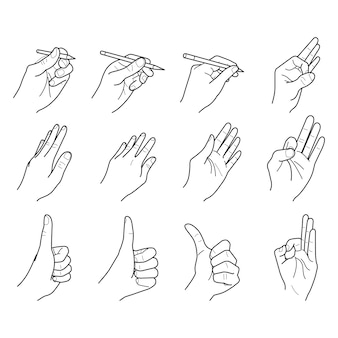 Hand outline collection