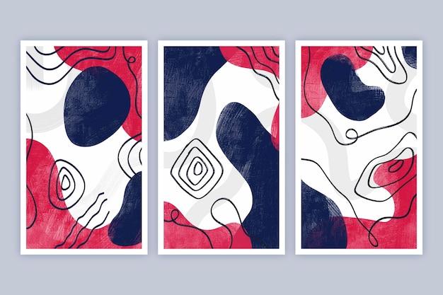 Коллекция обложек абстрактного искусства с ручной росписью