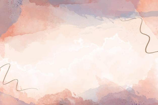 水彩で手描きの抽象的な背景