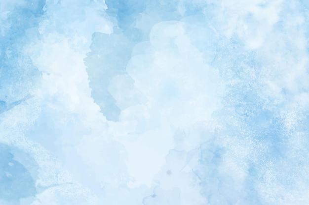 水彩で手描きの抽象的な青い壁紙
