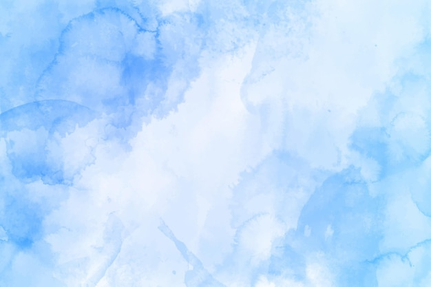 Hand painted abstract blue wallpaper in watercolor
