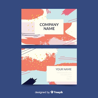 Hand painted abstract business card template